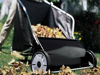 Rolling Leaf 31 inch Deluxe Push Lawn Sweeper